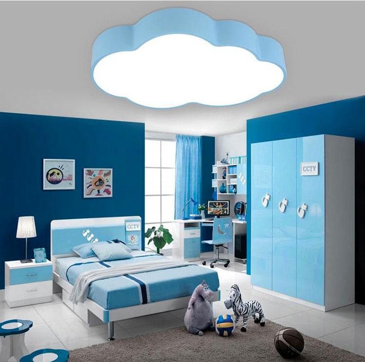 Idee di design per arredare una cameretta azzurra n.10