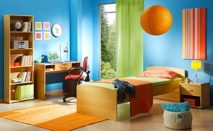 Idee di design per arredare una cameretta azzurra n.13