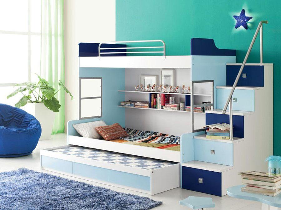 Idee di design per arredare una cameretta azzurra n.18