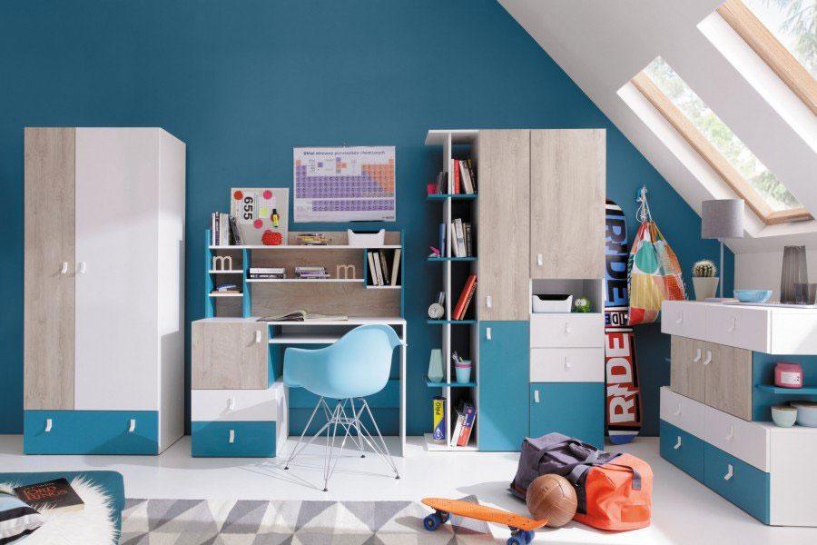 Idee di design per arredare una cameretta azzurra n.19