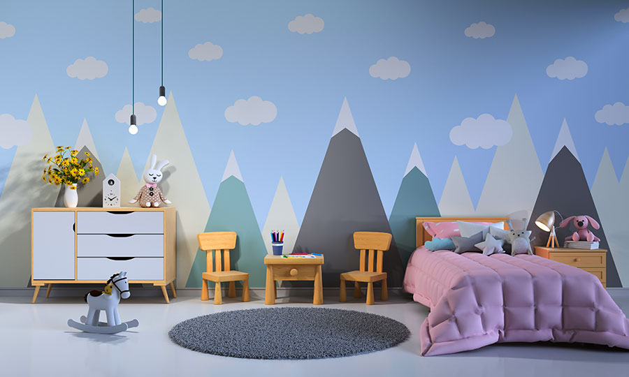 Idee per camerette con pareti decorate n.02
