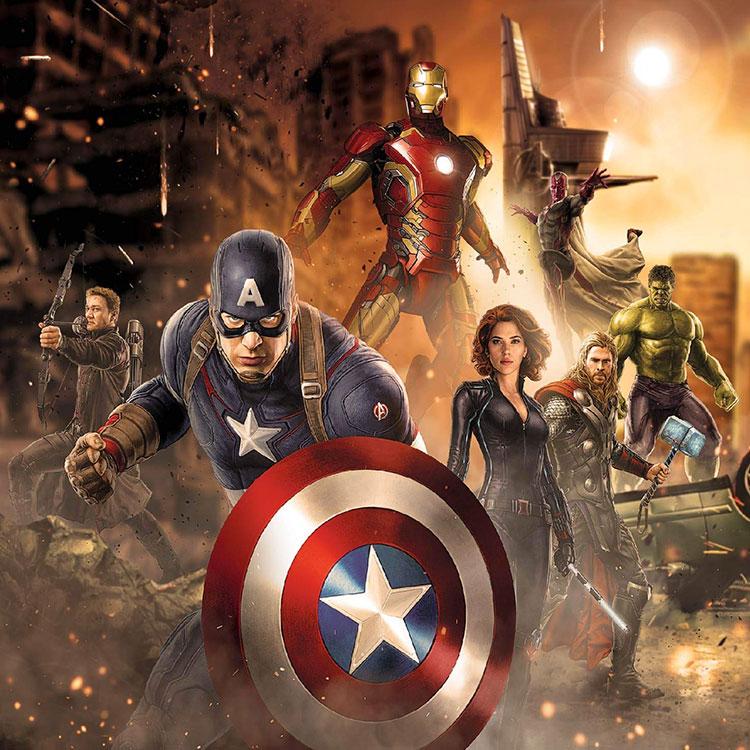 Carta da parati degli Avengers per camerette di bambini n.04