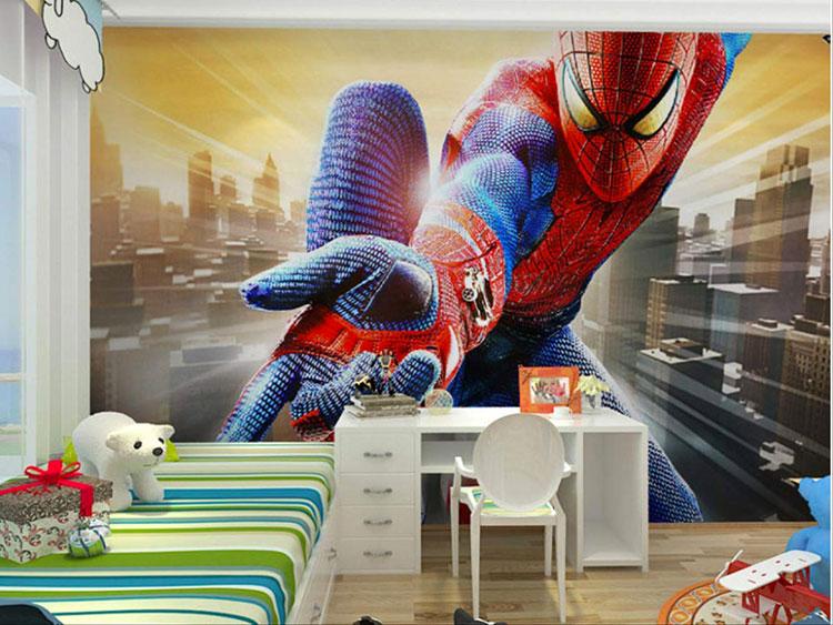 Carta da parati di Spiderman per camerette di bambini n.02