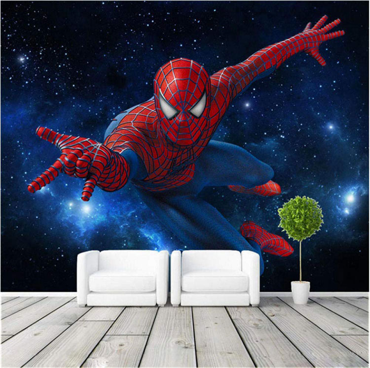 Carta da parati di Spiderman per camerette di bambini n.03