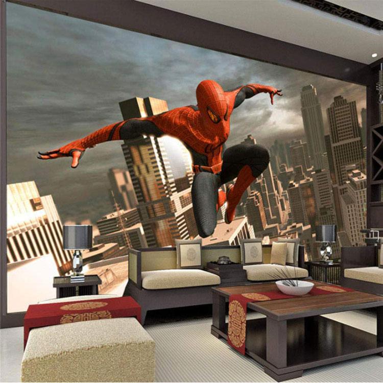 Carta da parati di Spiderman per camerette di bambini n.04
