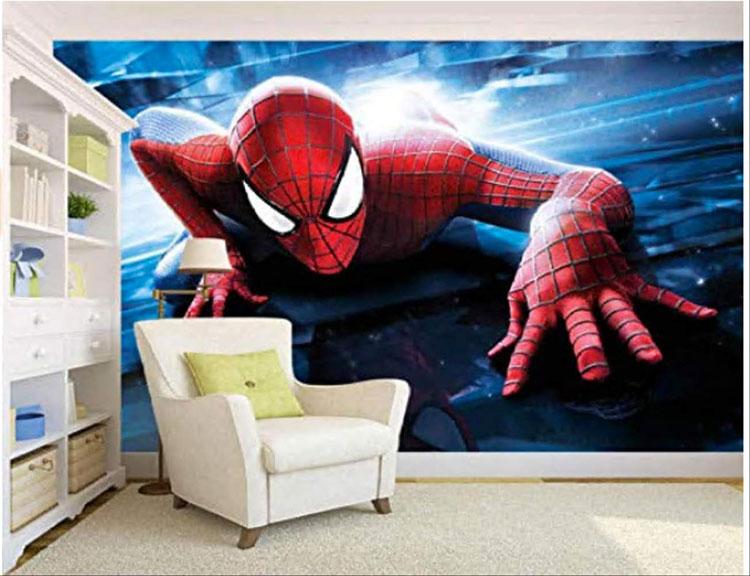 Carta da parati di Spiderman per camerette di bambini n.05