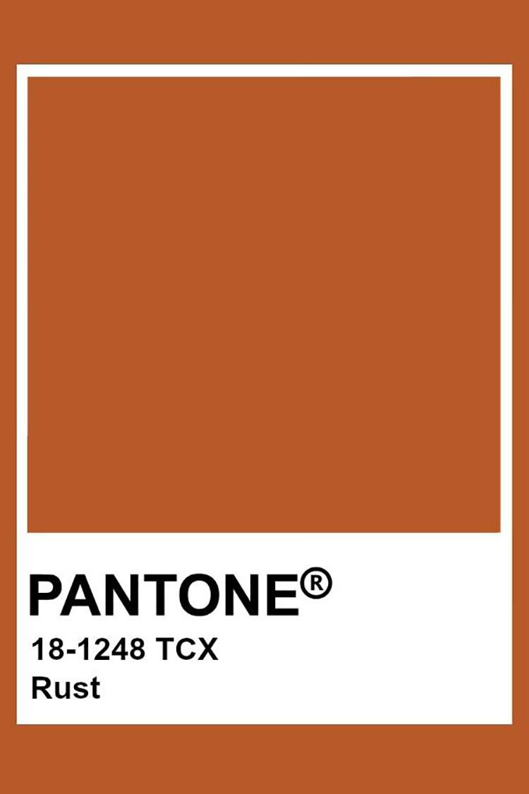 Codici colore ruggine Pantone