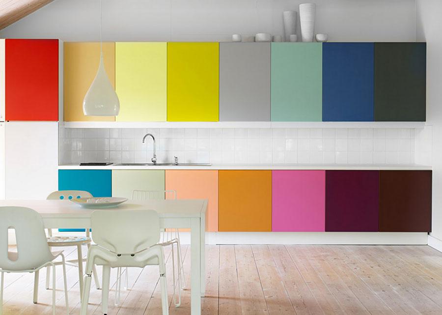 Idee per una cucina colorata moderna n.06