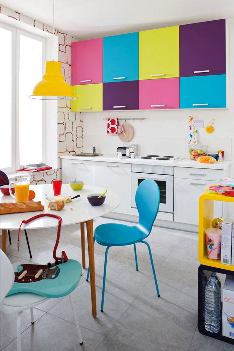 Idee per una cucina colorata moderna n.07