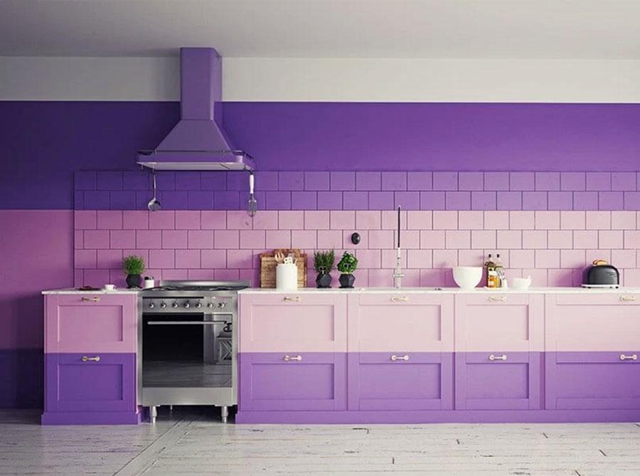 Idee per una cucina colorata moderna n.10