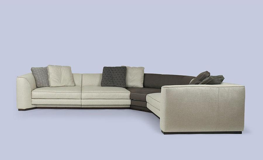 Modello di divano con angolo tondo n.02