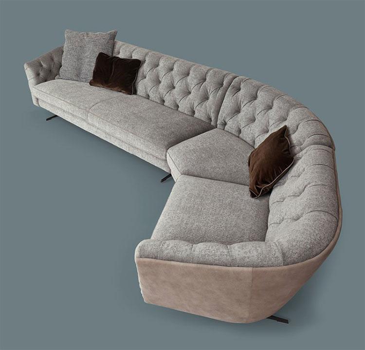 Modello di divano con angolo tondo n.03
