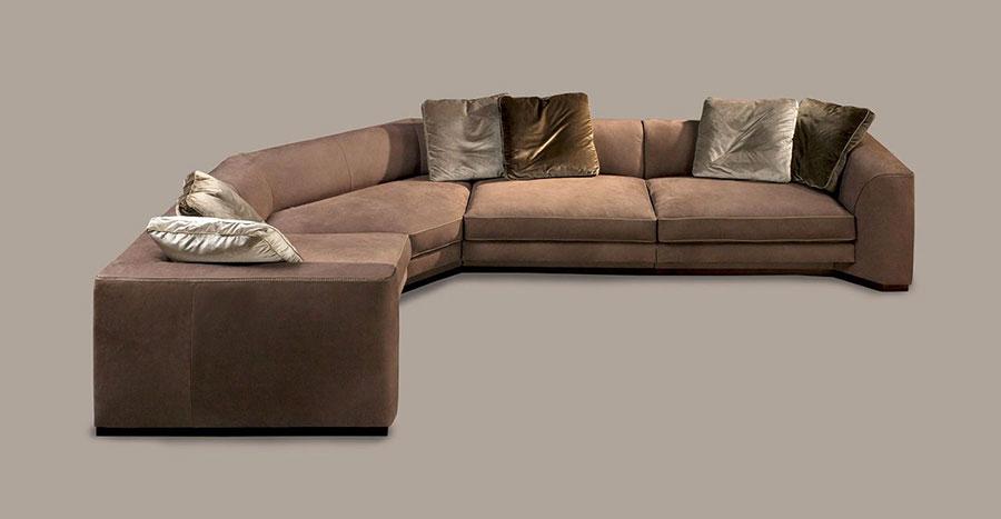 Modello di divano con angolo tondo n.04