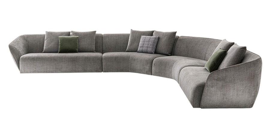 Modello di divano con angolo tondo n.05