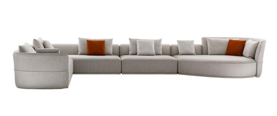 Modello di divano con angolo tondo n.06