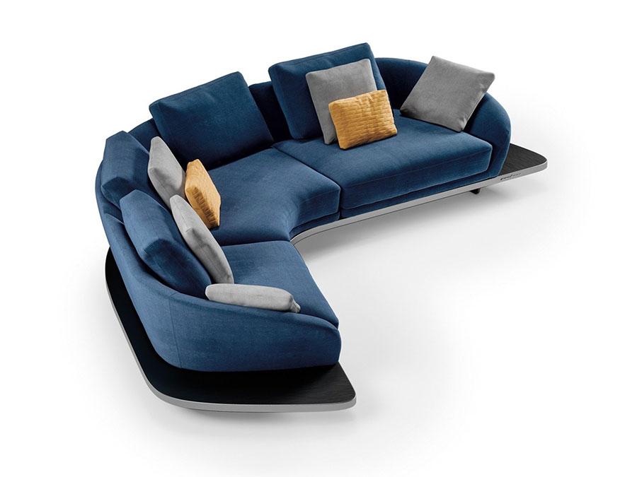 Modello di divano con angolo tondo n.10