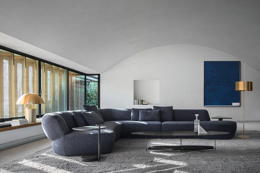 Modello di divano con angolo tondo n.11