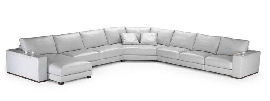 Modello di divano con angolo tondo n.12