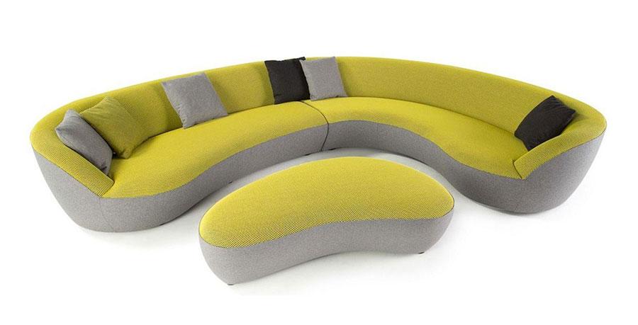 Modello di divano con angolo tondo n.16