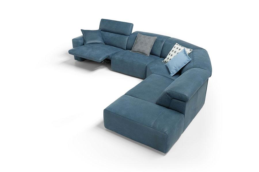Modello di divano con angolo tondo n.17