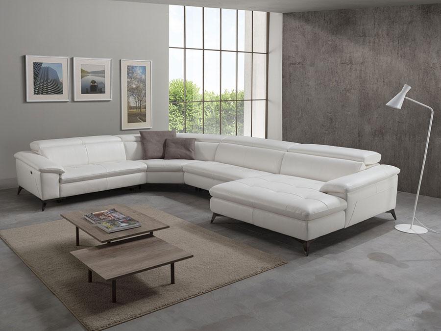 Modello di divano con angolo tondo n.18