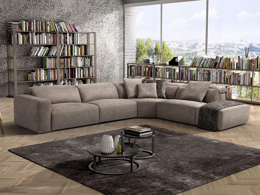 Modello di divano con angolo tondo n.19
