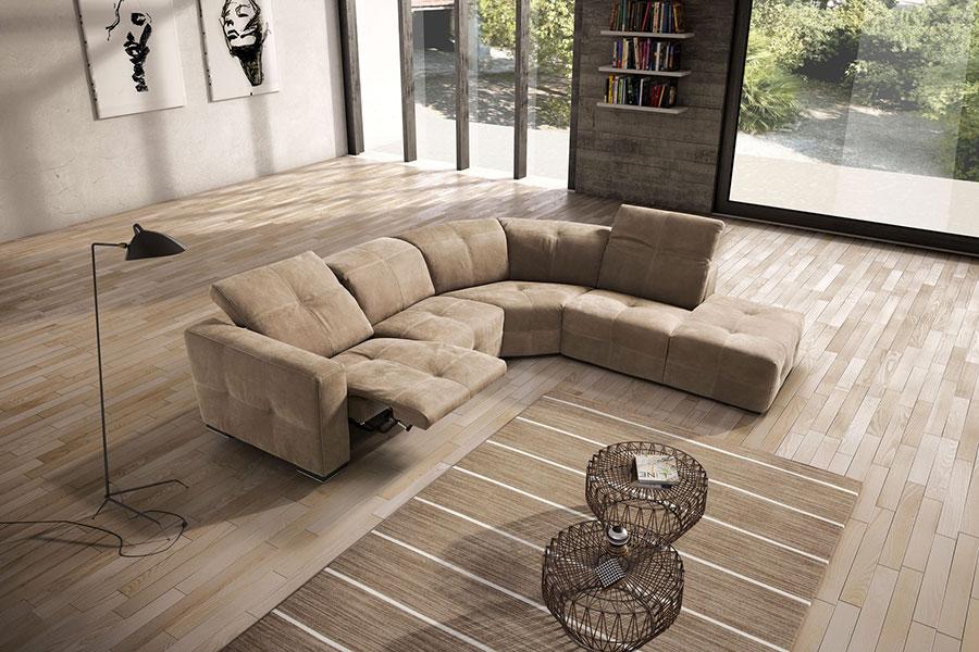 Modello di divano con angolo tondo n.20
