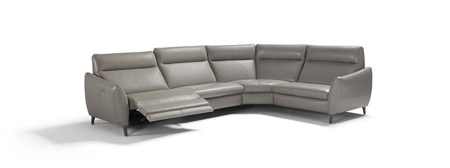 Modello di divano con angolo tondo n.21