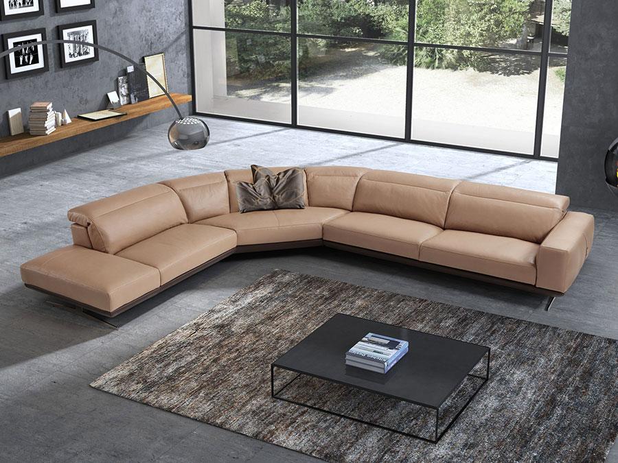 Modello di divano con angolo tondo n.22