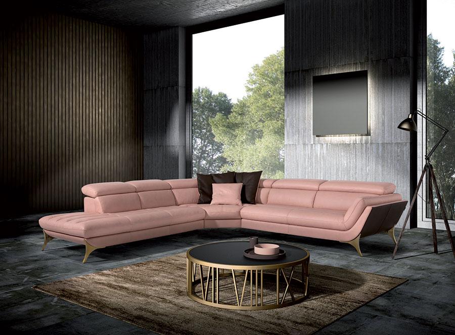 Modello di divano con angolo tondo n.23