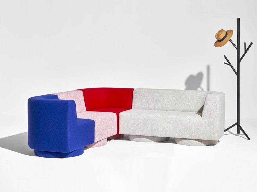 Modello di divano con angolo tondo n.24