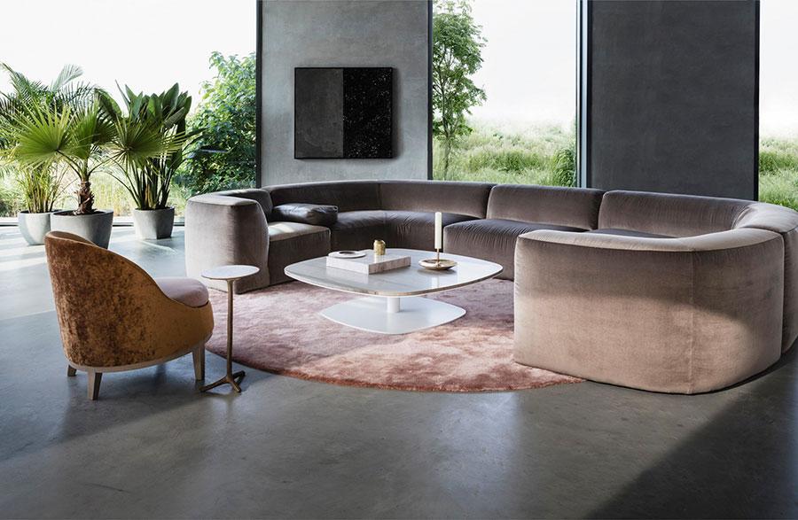 Modello di divano con angolo tondo n.25