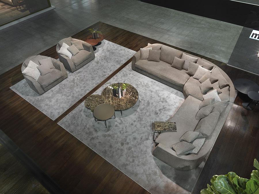 Modello di divano con angolo tondo n.26