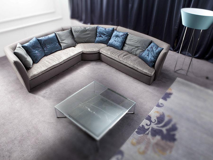Modello di divano con angolo tondo n.27