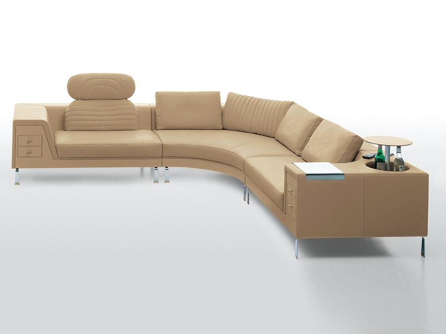 Modello di divano con angolo tondo n.28