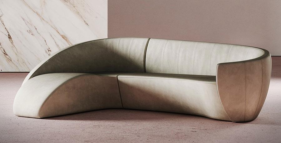 Modello di divano con angolo tondo n.30