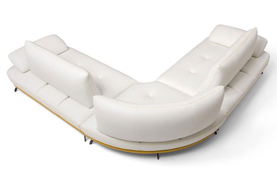Modello di divano con angolo tondo n.31