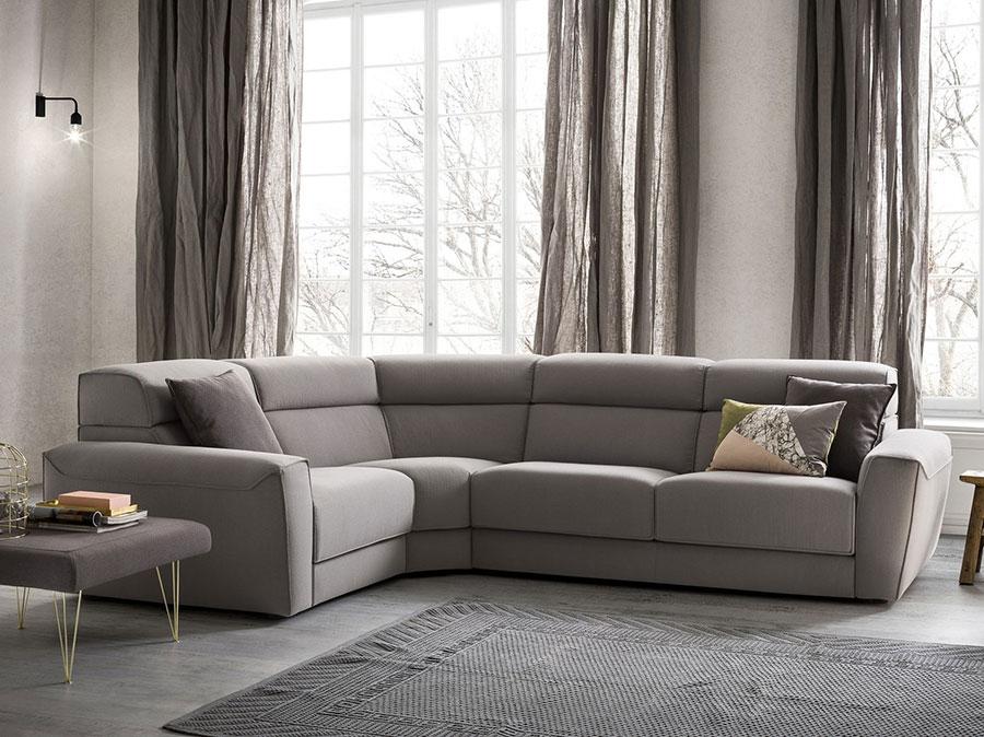 Modello di divano con angolo tondo n.33