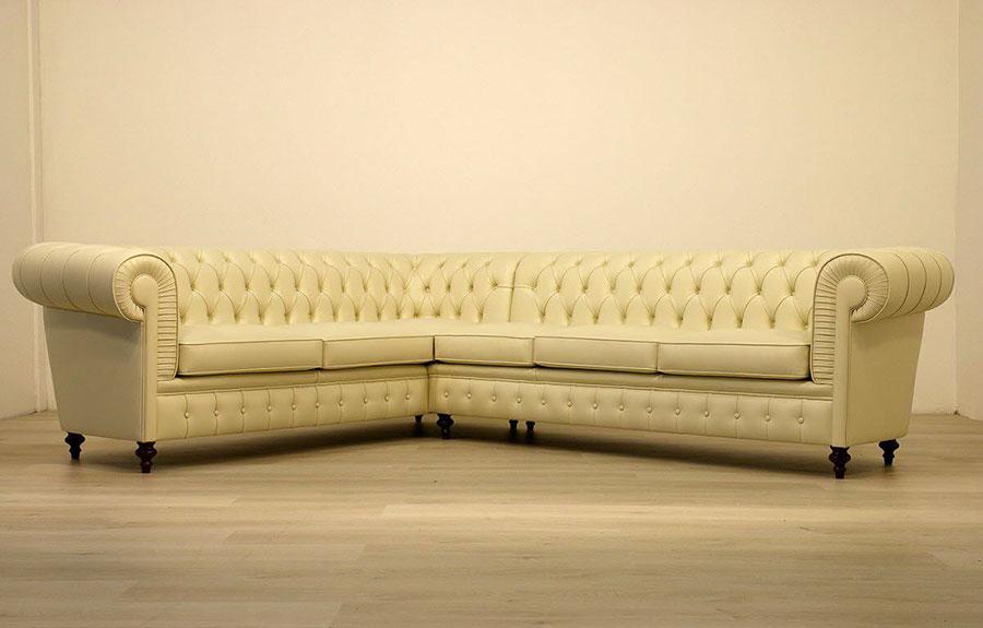 Modello di divano Divano Chesterfield angolare n.02