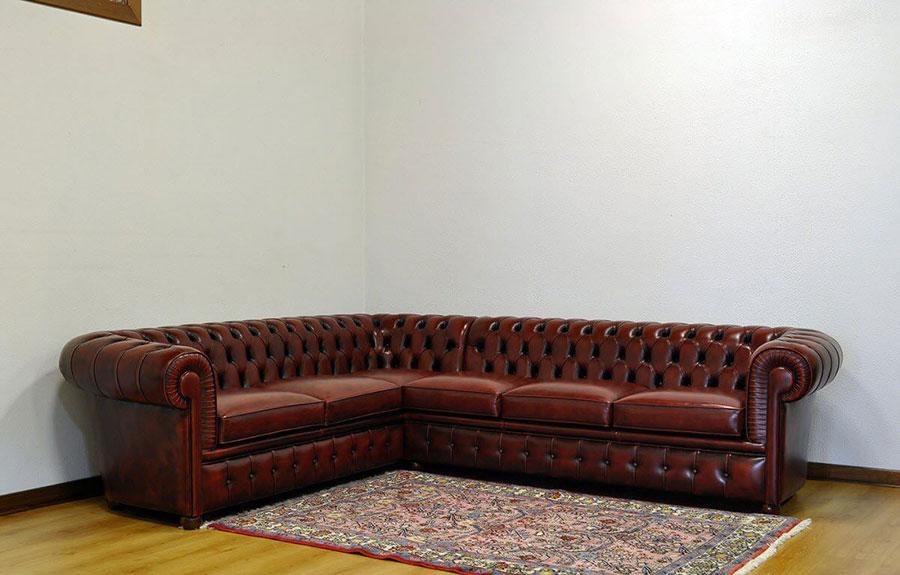 Modello di divano Divano Chesterfield angolare n.03
