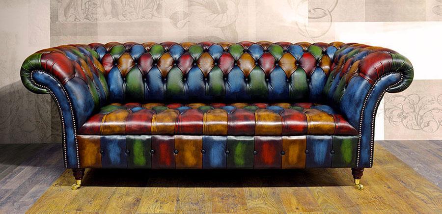 Modello di divano Divano Chesterfield a due posti n.01
