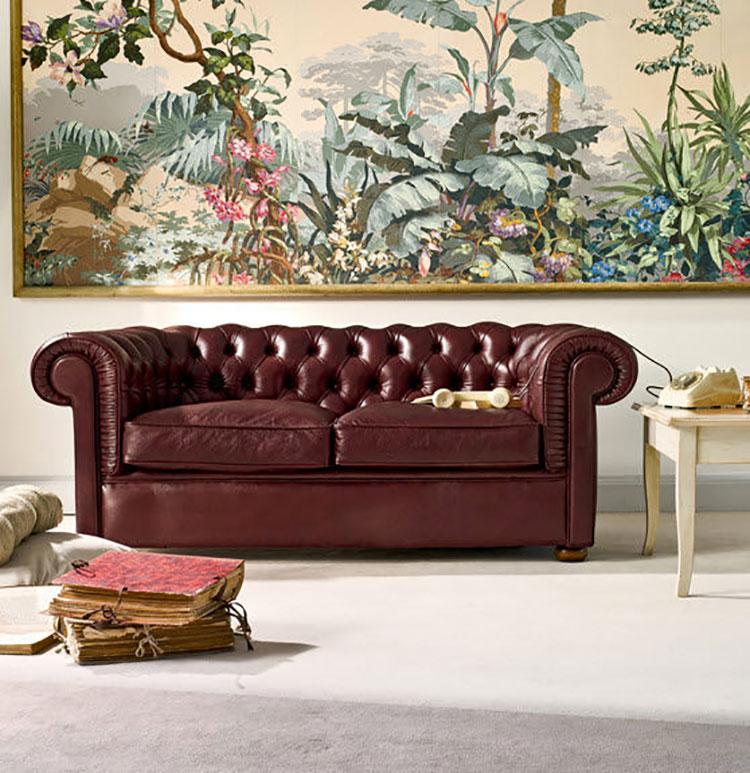 Modello di divano Divano Chesterfield a due posti n.03