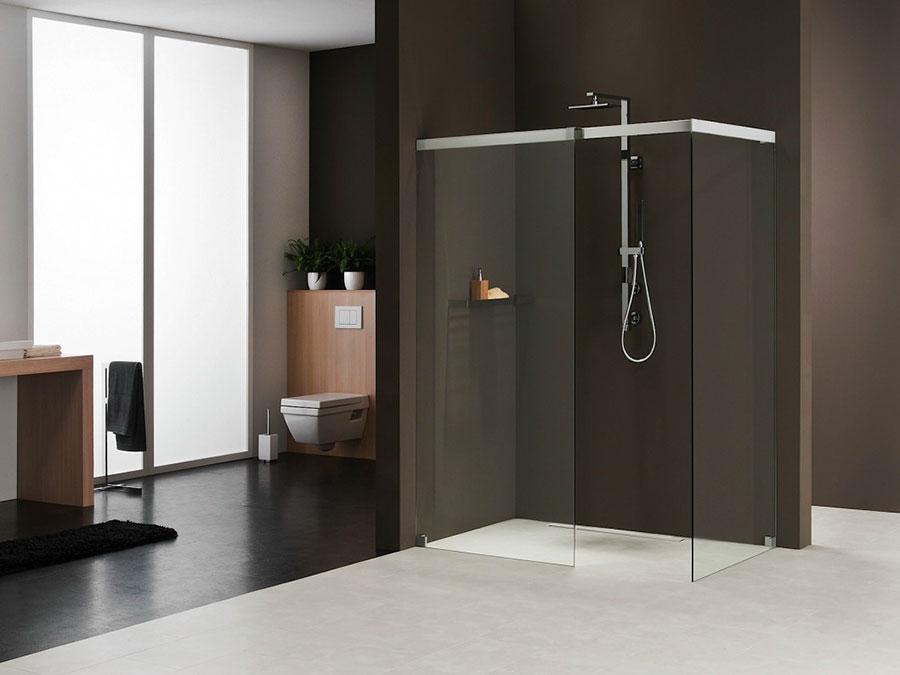 Modello di doccia walk-in ad angolo n.02