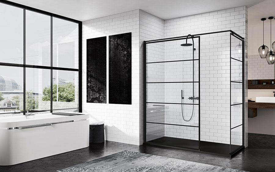 Modello di doccia walk-in ad angolo n.03