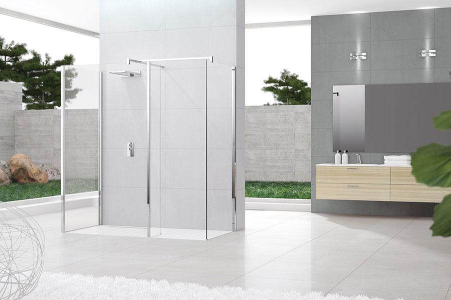 Modello di doccia walk-in ad angolo n.04
