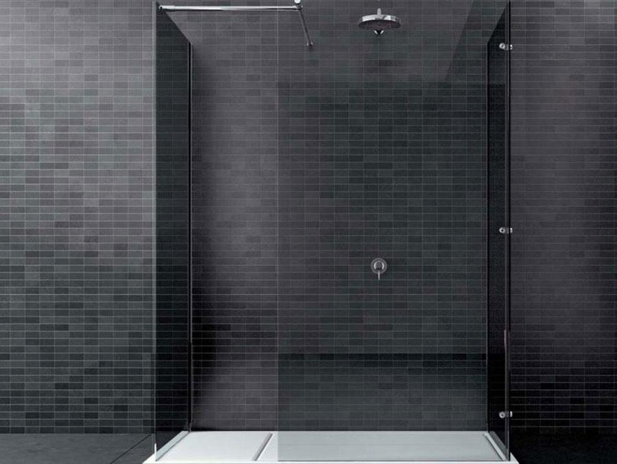 Modello di doccia walk-in ad angolo n.05