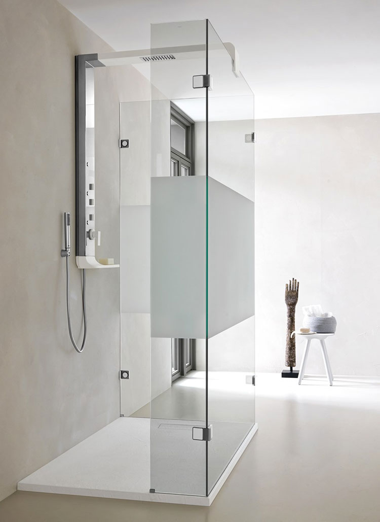 Modello di doccia walk-in ad angolo n.06