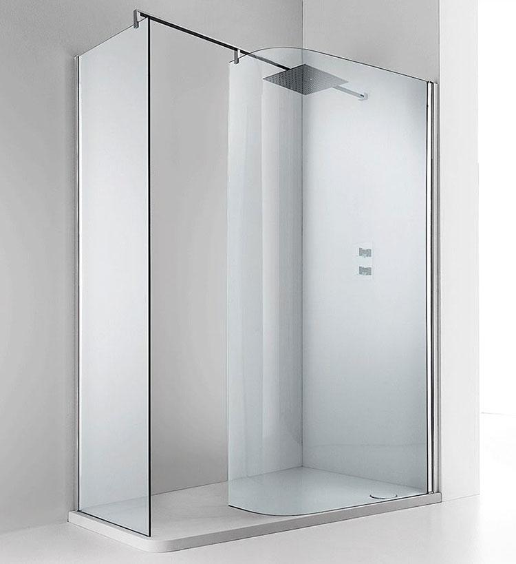 Modello di doccia walk-in ad angolo n.07