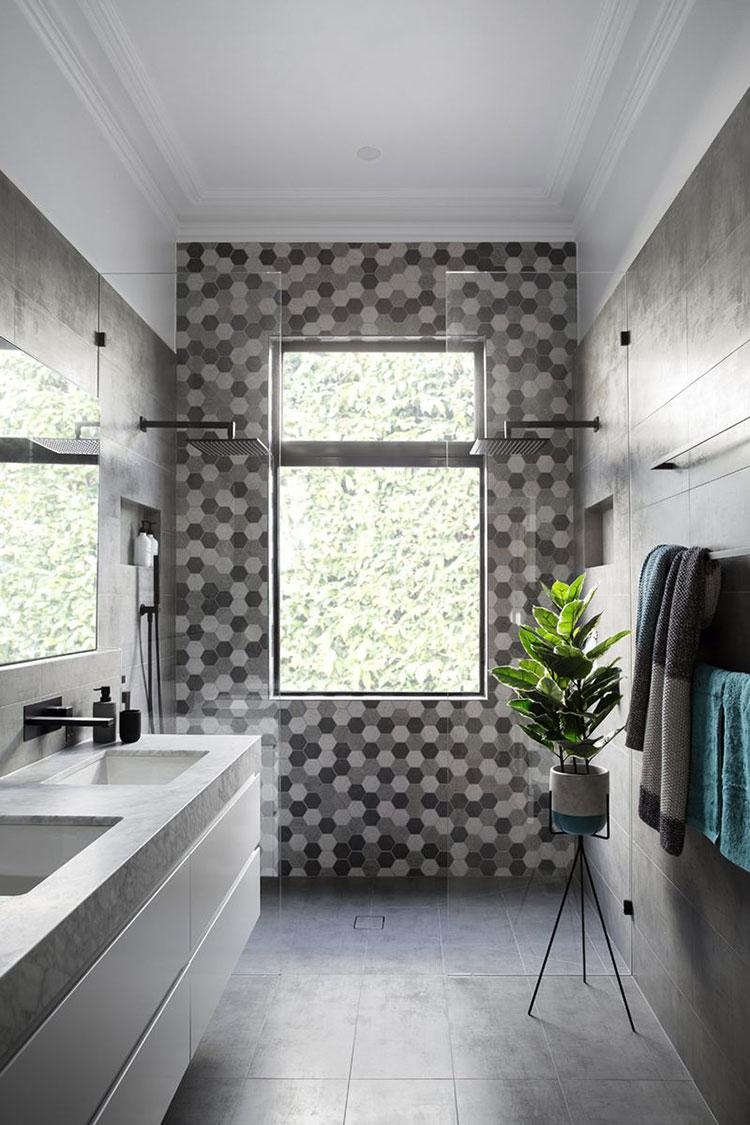 Modello di doccia walk-in con finestra n.02