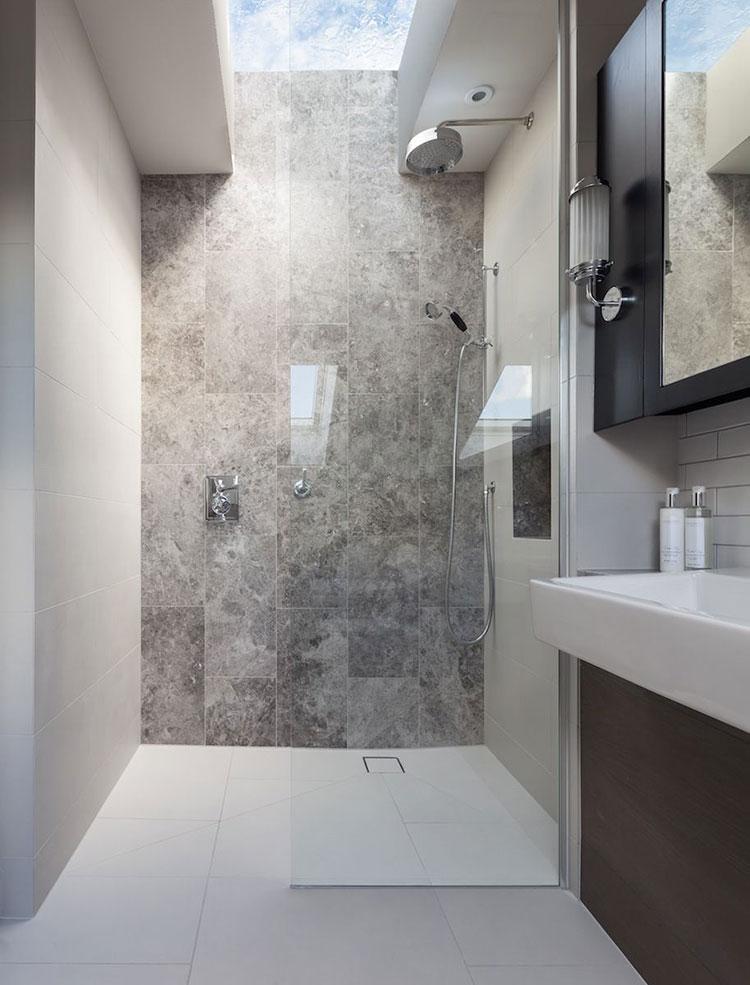 Modello di doccia walk-in con finestra n.04